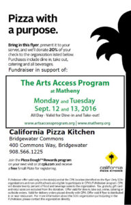 California Pizza Kitchen flyer